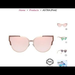 87d01ee888b2 Style Sector Accessories - Style Sector ASTRA Pink Sunglasses